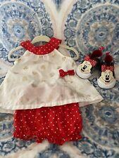 Disney Baby Polka Dot Minnie Mouse Ruffled Shirt Bloomers Set 0-3 Months