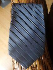100% Silk Grey Striped Classic Tie