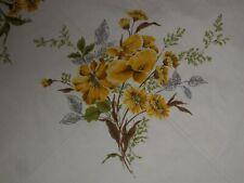 """Vtg Fall Sunflower Tablecloth Linen 71"""" X 59"""" Euc!"""