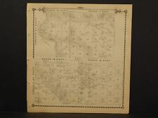 California Tulare County Map Township 24 Double Side 1892 !W12#32