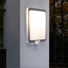 Außen Wand Leuchte Bewegungsmelder Garten Beleuchtung Edelstahl Lampe silber