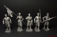 Tin soldiers  Set Don Cossack  World War I 5 figures 54mm