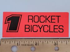 OLD SCHOOL BMX ROCKET BICYCLE STICKER DECAL 1990s NOS