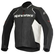 10% OFF Alpinestars DEVON Black/White Motorbike Leather Crusier/Sports Jacket
