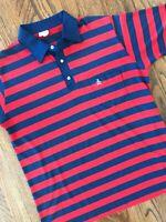 Vtg Grand Slam Munsingwear USA Red Blue Stripe Golf Polo Rugby Shirt Mens XL