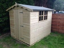7x5 Tanalised Apex Garden Sheds Timber Cladding Hut Store Wooden