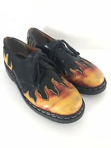 Tredair Flame Sunburst Leather Lace Up Oxfords Sz 11 Made In England Doc Martens