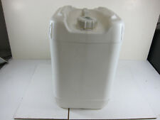 4-5 Gallon White Plastic Food Grade/Water Storage Container w/Cap Lot of 4 Used