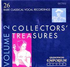 COLLECTORS' TREASURES Vol.2 : 26 Rare Classical Vocal Recordings