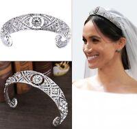 Women Queen Royal Wedding Crystal Hair Band Headband Hoop Tiara Crown headpiece