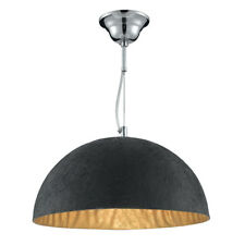Searchlight 38cm Dome Black Gold Pendant Ceiling Chandelier Fitting Light Lamp