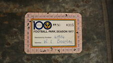 1977 SANFL CENTENARY FOOTBALL PARK SEASON TICKET