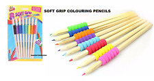 Artbox Bright Grip Colouring Pencil Pack of 8 Rubber Grip Sleeve School,Home