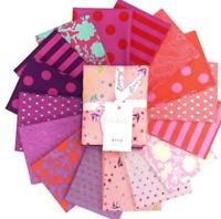 Tula Pink True Colors Flamingo 16 pc FQ set Cotton Quilting Fabric Free Spirit
