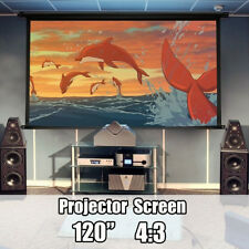 Foldable Outdoor 120'' Inch 4:3 Projector Projection Screen 3D HD Cinema Theater