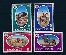 [50793] Malawi 1978 Wild animals Zebra Lion WWF MNH