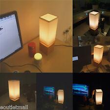 Solid Wood Table Lamp Bedside Desk Lamp Modern Minimalist Fabric Shade Lighting