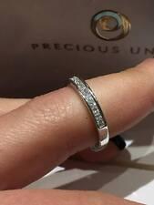 18CT WHITE GOLD 0.50CT GSI DIAMOND HALF ETERNITY PRINCESS CUT LADY RING GOY471