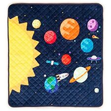 Children's Portable Super Soft Activity Play Mat Baby Toddler Outer Space Rocket