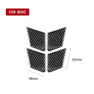 4Pcs Carbon Fiber Door Handle Bowl Trim For Mercedes-Benz C E Class W204 W212