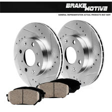 Front Drilled Slotted Brake Rotors Ceramic Pads 1998 1999 2000 2001 2002 Mirage