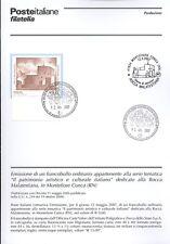 ITALIA 2007  MONTEFIORE CONCA  BOLLETTINO COMPLETO DI FRANCOBOLLI FDC