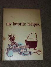 Vintage Culinary Arts Instittute Cookbook My Favorite Recipes