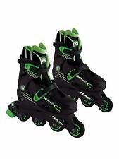 Wired Flash Adjustable Inline Skates 13-3 Black Green