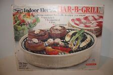 Dazey Indoor Smokeless Electric Bar-B-Grill Model DSG-130 Tested & Working White