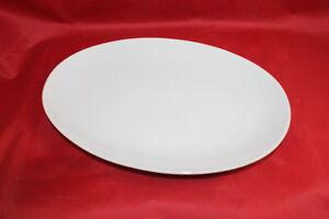 SELTMANN Weiden Servierplatte 28 x 19 cm  MONIKA in weiß geriffelt