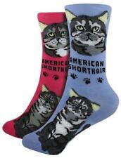 American Shorthair ~ Foozys Crew Socks Womens Cat Feline Kitty Cats Foozy