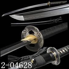 FULL TANG BLADE JAPANESE SAMURAI SWORD CLAY TEMPERED T10 STEEL KATANA SHARP#087