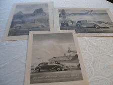 3 PUBLICITES PRESSE AUTOMOBILES ARMSTRONG SIDDELEY ANNEES 40