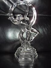 Art Deco Style Italian RCR Royal Crystal Rock Glass Figurine DANCER OFELLA