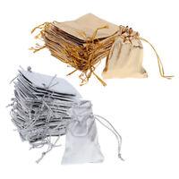 25 / 50pcs Sacs cadeau sacs de faveur de mariage bonbon sacs bijoux sac pochette