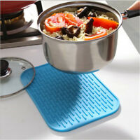 Rectangular Silicone Thicken Heat-resistant Pot Mat For Kitchen Accessories YJ