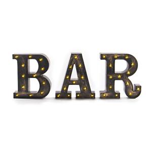 Vintage BAR Light Up Sign Suitable for Home Bar and Pub Lighted Letters Pukkr