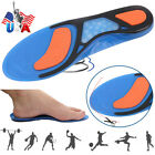 Pair Silicone Gel Plantar Fasciitis Orthotic Insoles Arch Support Shoe Padded FC