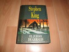 EL JUEGO DE GERALD LIBRO DE STEPHEN KING PRIMERA EDICION DEL AÑO 1993 BUEN ESTAD