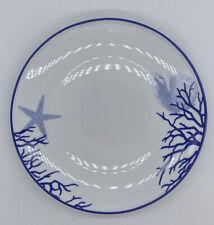 Fitz & Floyd Everyday White, Coastal, Dinner Plates, Lot Of 2, Blue Starfish