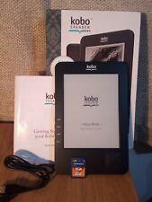 Kobo Ereader Model N647B 1GB Working Plus 2GB Memory Card