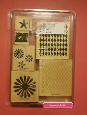 Stampin Up LOOKS LIKE SPRING flowers mesh diamond backgrounds floral rustic