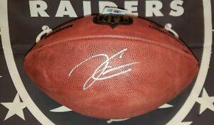 Derek Carr signed Oakland Raiders authentic Duke ball w/JSA COA/Holo