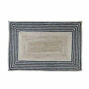 Rug 100% Jute Runner Natural Braided Handmade Carpet Reversible Modern Area Rug