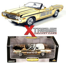 GREENLIGHT 50814 24K GOLD 1:18 1971 CHALLENGER INDY 500 PACE CAR CHASE DIECAST