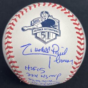 Randy Johnson Full Name Signed Retirement Logo Stat Baseball JSA