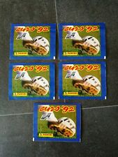 PANINI EURO 92 PACKETS 5x FROM BOX SWEDEN 1992 STICKER BUSTINE TUTE