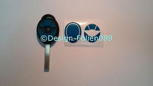Carbon Blau Gebürstet Folie Dekor Schlüssel Key Cooper JCW S Mini R53 John Works