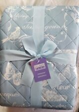 NEW Studio Home Countryside Butterfly Bedspread, Duck Egg - 240 x 260 cm