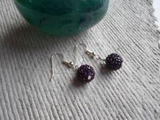 Handmade ~ Earrings ~ 10mm Amethyst  ~ Disco ~ Shambala Beads
